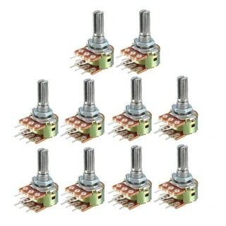WH148 500K Ohm Variable Resistors Dual Carbon Film Taper Potentiometer 10pcs - 500k-10pcs