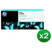 HP 771A 775-ml Light Cyan DesignJet Ink Cartridge (B6Y20A) (2-Pack)