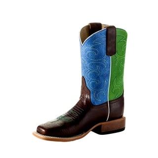 Anderson Bean Western Boots Boys Girls Kids Roper Chocolate K7904