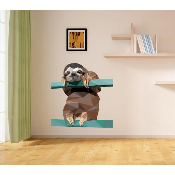 Sloth Door Vinyl Decal Wall Art Decoration 3 Sizes 15 Colours