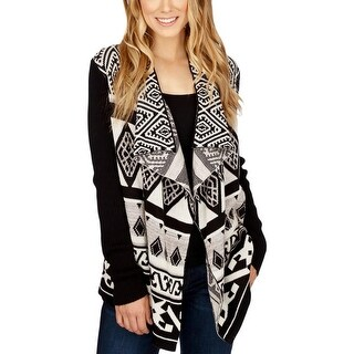 Lucky Brand Womens Cardigan Sweater Printed Open, No Collar