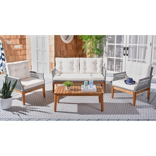 Link to SAFAVIEH Outdoor Living Winslo 4-Piece Patio Set Similar Items in Patio Furniture