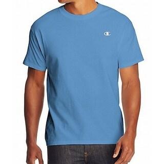 Champion NEW Blue Mens Size XL Logo Solid Short-Sleeve Crewneck T-Shirt