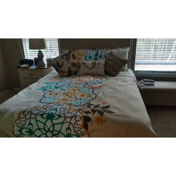 Shop Blissliving Home Shangri La 3 Piece Cotton Duvet Cover Set   On Sale    Free Shipping On Orders Over $45   Overstock.com   13389688