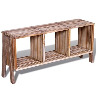 vidaXL TV Cabinet with 3 Shelves Stackable Reclaimed Teak
