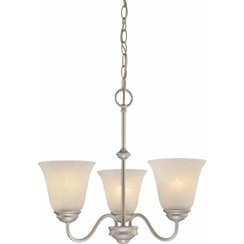 Volume Lighting V2263 Hammond 3 Light 1 Tier Chandelier with Alabaster Glass Sha