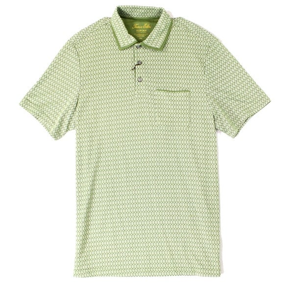 15554b877 Shop Tasso Elba Pickle Green Mens Size Large L Polo Short Sleeve Shirt -  Free Shipping On Orders Over  45 - Overstock - 22531161