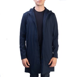 Thoery Men's Polyester Nylon Blend Coat Jacket Navy Blue