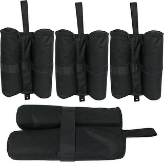 Sunnydaze 25-Pound Capacity Weight Bags for Instant Pop-Up Canopies, 15-Inch, 4-Pack