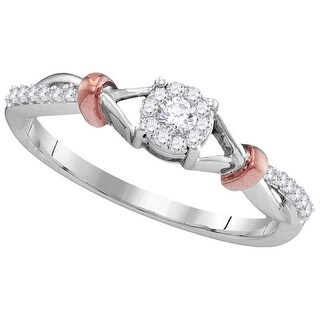 1/6Ctw Diamond Bridal Engagement Ring 10K White-Gold