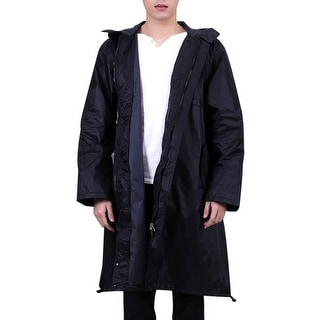 wide selection recognized brands super service QZUnique Plus Size Lightweight Long Raincoat With Pockets Waterproof  Packable Hooded Raincoats Windbreak Jackets | Overstock.com Shopping - The  Best ...