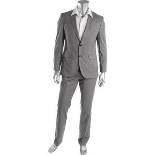 BOSS Hugo Boss Mens The Key12/Shaft2 Wool 2PC Two-Button Suit - 38R