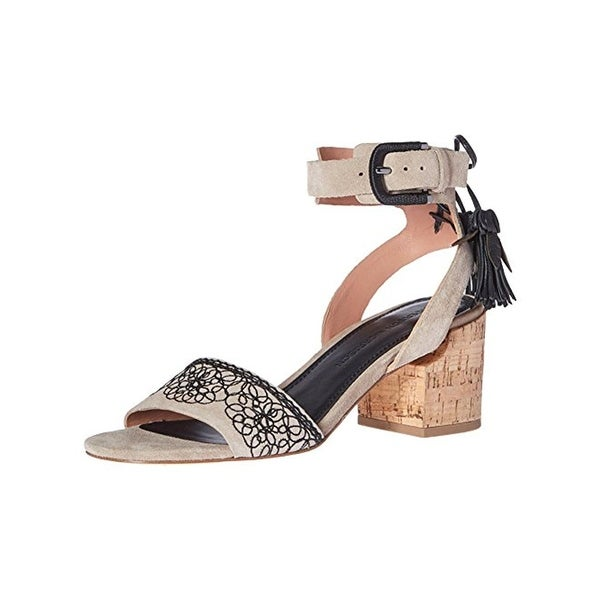 Sigerson Morrison Womens Riva Heels Open Toe Embroidered - 6.5 medium (b,m)