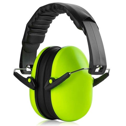 Hearing Protection Ear Muffs -Lime Green Hearing Protection-HC706-L+A1