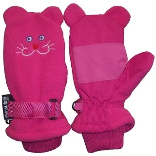 NICE CAPS Girls Thinsulate and Waterproof Kitty Face Mitten - FUCHSIA
