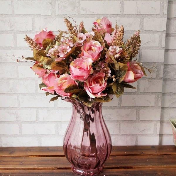 Artificial Bouquet Simulation Of Palace Rose Safflower Home Wedding Decoration