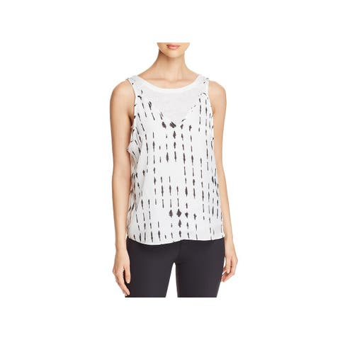 Kenneth Cole Womens Tank Top Satin Layered