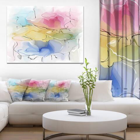 Designart 'Abstract Floral Illustration Design' Extra Large Floral Wall Art
