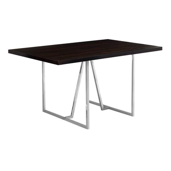Monarch Specialties I 106 60 Inch Wide Dining Table With Chrome Legs Overstock 23100164