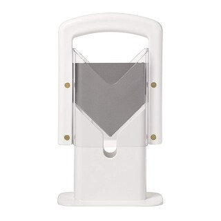 Lifetime Brands Hoan Bagel Guillotine Slicer With Built In Clear Acrylic Safety Shields - White