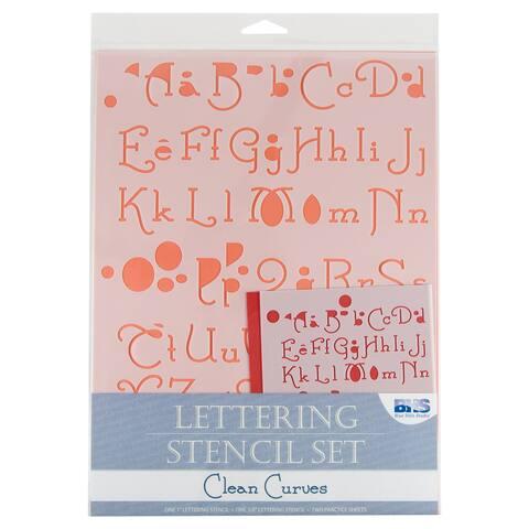 Alvin bhs108set lettering stencil set clean curves