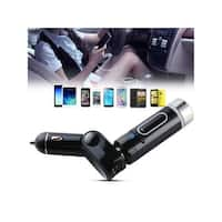 AGPtek Car FM Transmitter Wireless Bluetooth  In-Car Radio Adapter With Cigarette Lighter USB Charge,Hands-Free Calling