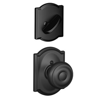 Schlage F94-GEO-CAM Georgian Dummy Interior Pack with Deadbolt Cover Plate and Decorative Camelot Trim - N/A