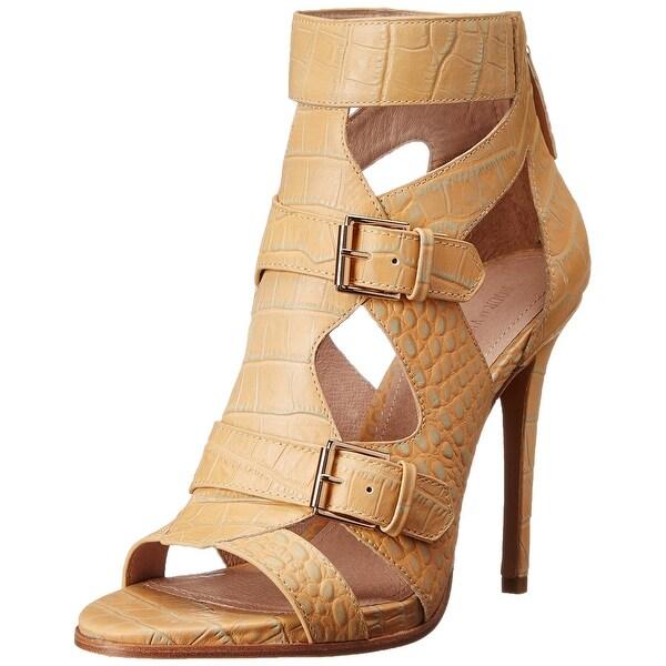 Pour La Victoire NEW Beige Shoes Size 6M Strappy Leather Heels