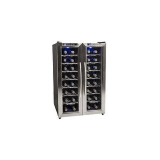"EdgeStar TWR325E 21"" Wide 32 Bottle Wine Cooler with Dual Cooling Zones - STAINLESS STEEL - N/A"