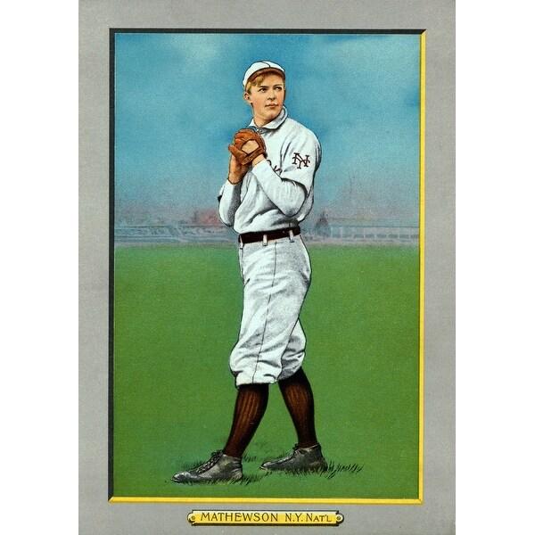 New York Giants Christy Mathewson Baseball Card Art Print Multiple Sizes Available 9 X 12 Art Print