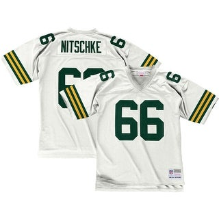 Green Bay Packers Ray Nitschke 1966 White Replica Jersey