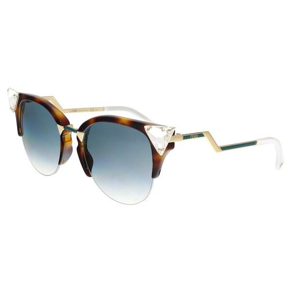 Shop FENDI 0041/S 0VIO- G5 Havana Gold Cat Eye Sunglasses