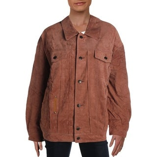 Link to Free People Womens Car Coat Suede Trucker - Sand Similar Items in Women's Outerwear