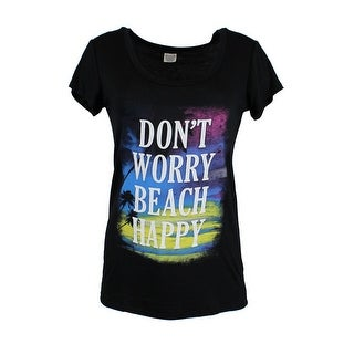 bb2a3603 Shop Womens Don't Worry Beach Happy Graphic Scoop Neck T Shirt - Free  Shipping On Orders Over $45 - Overstock - 25619183
