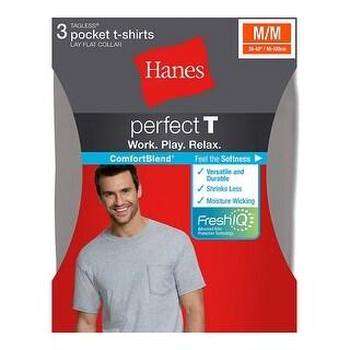 Hanes ComfortBlend Men's Perfect T Dyed Pocket Crewneck Undershirt 3-Pack