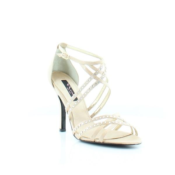 Nina Crystah Women's Heels Gold Royal - 9.5