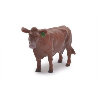 """Little Buster Toy Cow Angus Heavy Duty Plastic 4"""" x 6"""" Red 500260"""