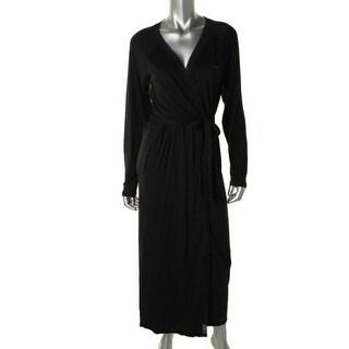 Calvin Klein Sleepwear Womens Matte Jersey Solid Long Robe - m/l