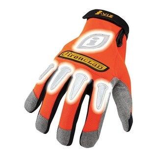 Ironclad IVO2-03-M I-Viz Synthetic Safety Glove, Medium, Orange