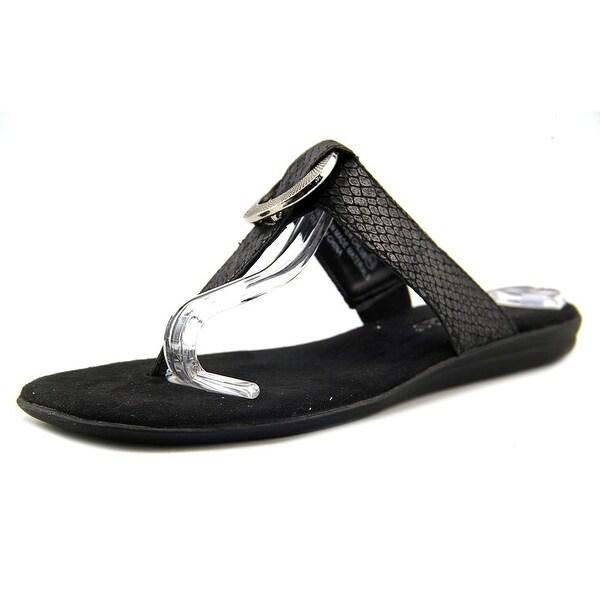 Aerosoles Supper Chlub Women Black Snake Sandals
