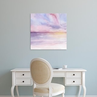 Easy Art Prints Grace Popp's 'Pale Sunset I' Premium Canvas Art