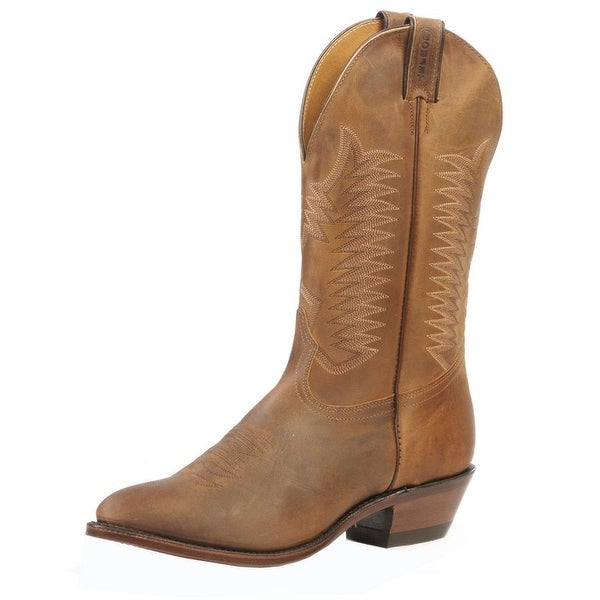 Boulet Western Boots Mens Cowboy Leather Hill Billy Golden