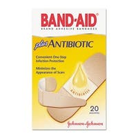 Antibiotic Adhesive Bandages  Assorted Sizes  20 per Box