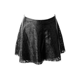 Guess Womens Faux Leather Cut-Out Mini Skirt - 4