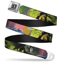 Maleficent Face3 Full Color Green Fade Sleeping Beauty & Maleficent Dragon Seatbelt Belt