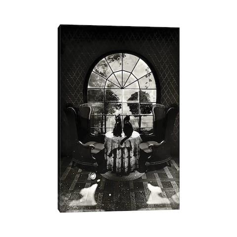 """iCanvas """"Room Skull B/W"""" by Ali Gulec Canvas Print"""