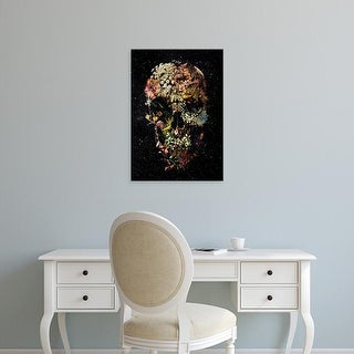 Easy Art Prints Ali Gulec's 'Blooming Skull' Premium Canvas Art