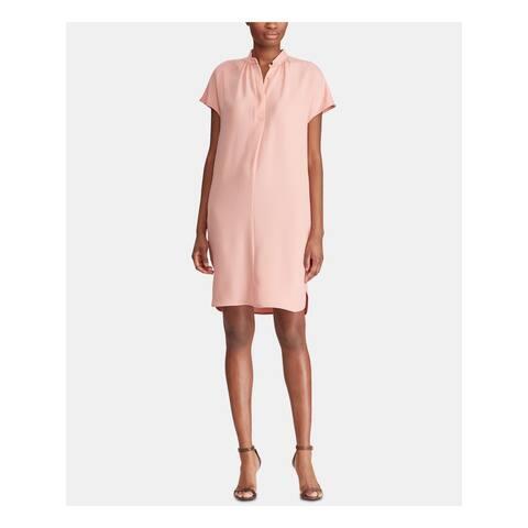 RALPH LAUREN Pink Short Sleeve Knee Length Shift Dress Size 18