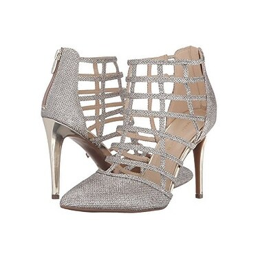 Marc Fisher Womens Naples 3 Fabric Pointed Toe Special Occasion Ankle Strap S...