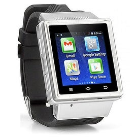 Indigi® (Factory Unlocked) 3G Bluetooth Sync Android 4.4 KitKat SmartWatch and Phone + WiFi + Camera + Google Maps